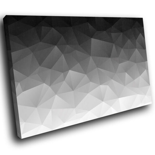 AB1349 Black White Grey Cool Modern Abstract Canvas Wall Art Large Picture Print