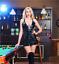 BLACK-Lace-Up-Gothic-PVC-Leather-Mini-Dress-amp-Thong-Clubwear-Skirt-8-10-12-14-16 thumbnail 1