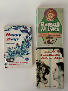 Vintage Book Lot - 3 Vintage Books - Happy Days, Rascals At Large, Lions Tigers