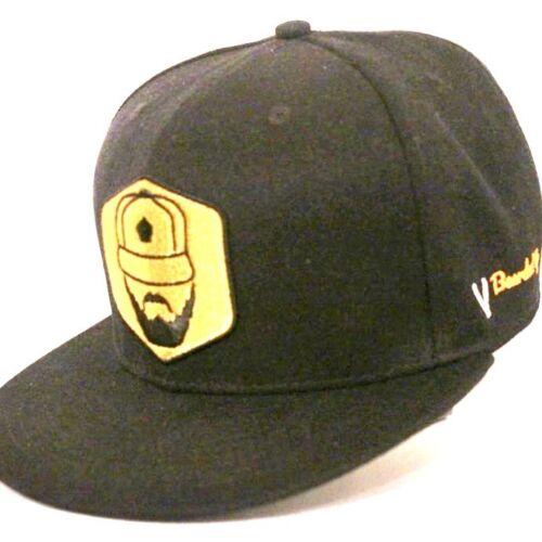 Bearded Up London Official Black Original Snapback Cap Adjustable Baseball Hat