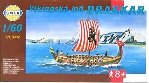 SMER-0902-Wikingerschiff-DRAKKAR-Langboot-der-Nordmaenner-Bausatz-1-60
