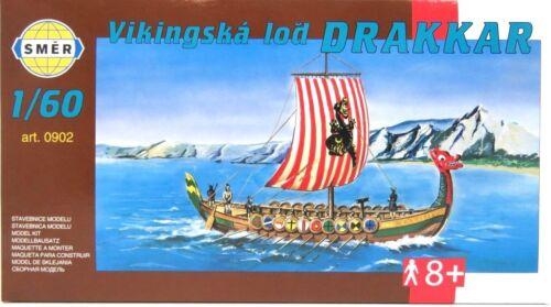 Wikingerschiff DRAKKAR,Langboot der Nordmänner SMER 0902 Bausatz 1:60,OVP,NEU