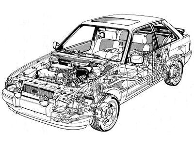 FORD ESCORT MKIV RS TURBO S2 CUTAWAY RETRO POSTER PRINT CLASSIC 80/'s ADVERT A3