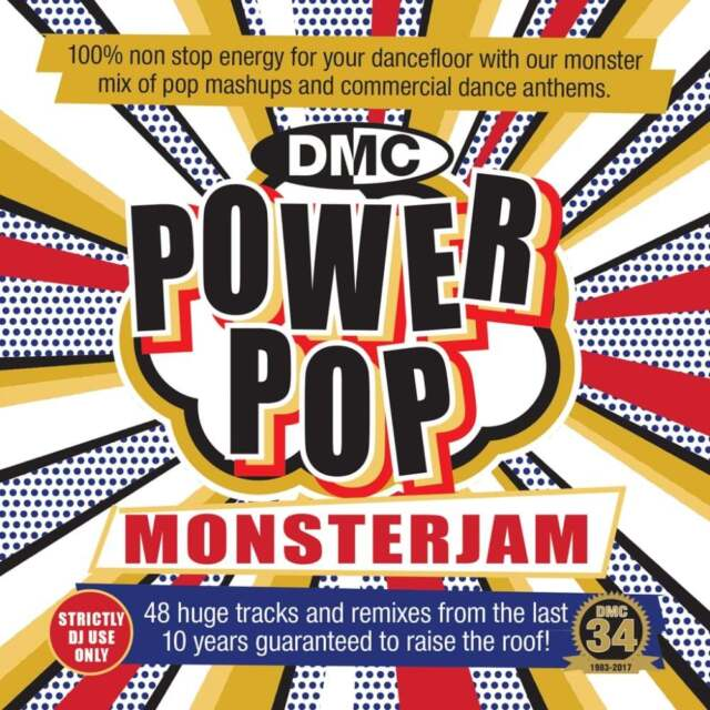 DMC Power Pop Monsterjam Continuous Megamix Mixes Remixes DJ CD Party Music