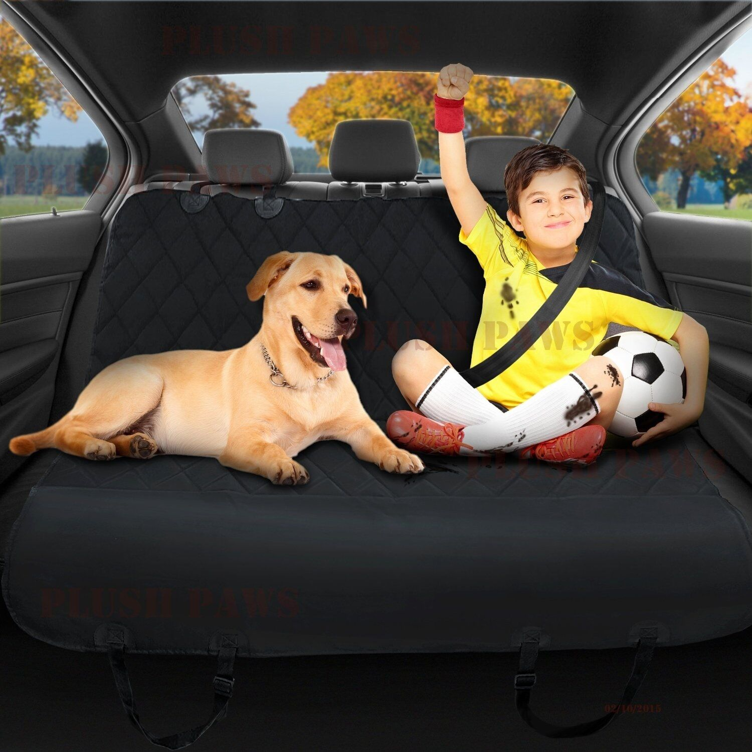 Pet Seat Cover with Seat Anchors,Harness,Hammock,Belt,Silicon,Upholstery, Travel