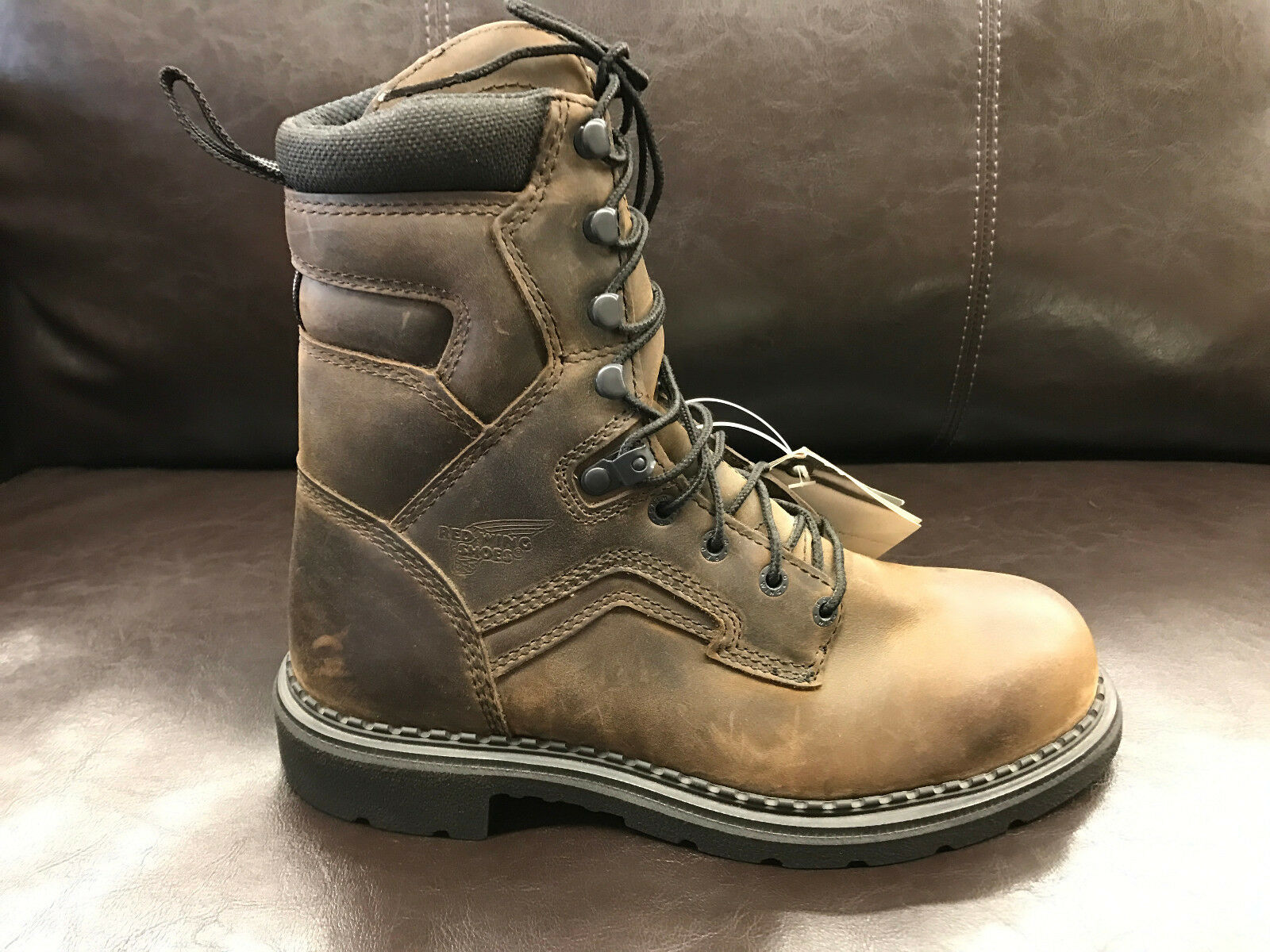 3b1f89c40ba Red Wing Safety Waterproof Supersole BOOTS Size 8 D 4414