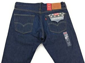 Levis-511-Slim-Fit-White-Oak-Cone-Mills-Red-Line-North-Jeans-Herren-Made-in-USA