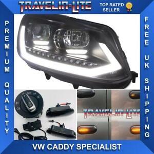 VW-Caddy-faros-con-modulo-conmutador-DRL-Automatico-amp-Repetidores-Laterales-10-15