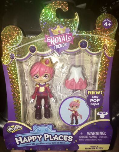 Shopkins Happy Places Royal Trends PRINCE ROWEN RUBY Boy Shoppie Doll /& Cape