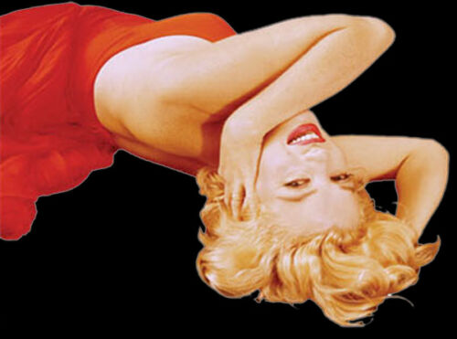 Marilyn Monroe Red Dress Lounging T-Shirt PLUS SIZE or SUPERSIZE T522 Rhinestone