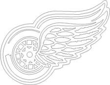 """6""""x 4.5"""" Detroit Red Wings - Car Window Decal"""