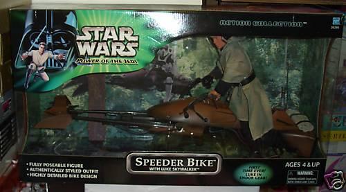 NRFB Target Stores Star Wars Speeder Bike with Luke Skywalker