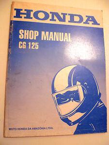 genuine honda cg125 cg 125 workshop service repair manual ebay rh ebay ie Honda CG125 2018 Honda CG125 2018
