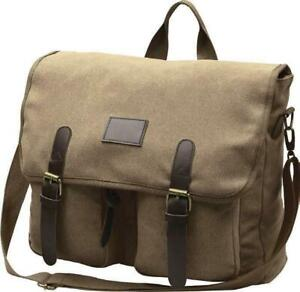New - MILITARY STYLE CANVAS LAPTOP SHOULDER BAG - Made by World Famous Canada London Ontario Preview