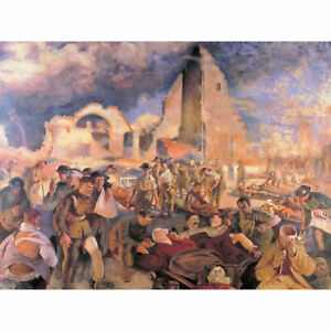 Tonks-Henry-An-Advanced-Dressing-Station-In-France-1918-XL-Print-Canvas-Mural