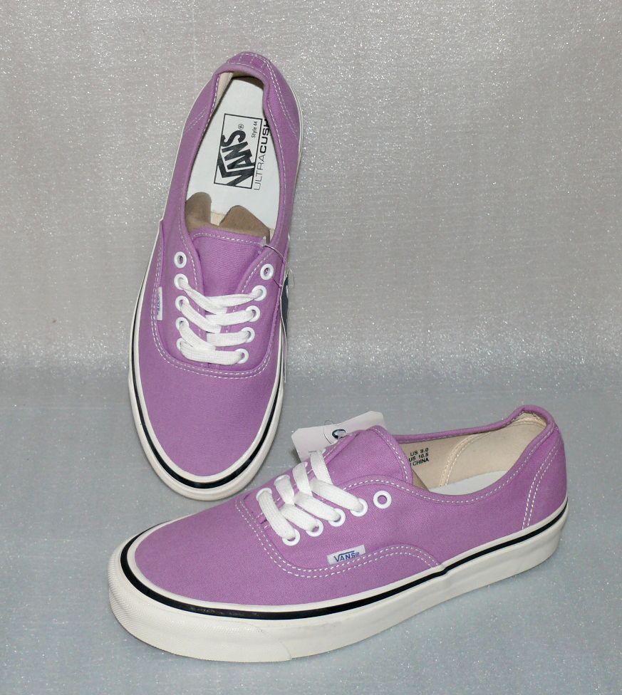 Vans Buthentic 44DX Canvas Herren Schuhe Freizeit Sneaker 42 US9 DT017 Lila Weiß