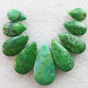 9Pcs-Set-Lapis-Lazuli-with-Chrysocolla-Teardrop-Pendant-Bead-D913