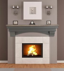 Image Is Loading Pearl Mantel Hadley Cottage Grey Fireplace Tv
