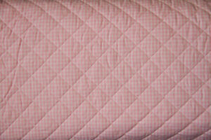 10 Yards - Pink Gingham 100% Cotton PRE-QUILTED Fabric   eBay : pre quilted material - Adamdwight.com
