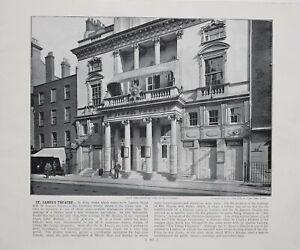 1896 London Stampa Con ( Testo San JAMES'S Teatro