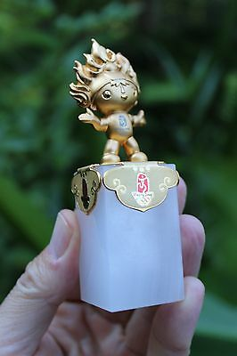 2008 Olympic Mascot Huanhuan (欢欢) with plated gold, limited edition, China, Beij