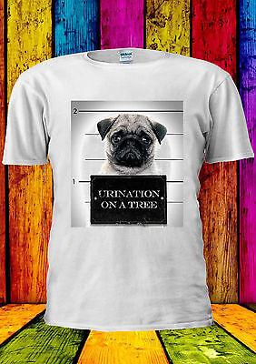 Pizza Pug Cute Dog Animal Funny Cool Retro Men Women Top Unisex T Shirt 1316