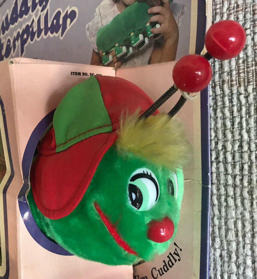 VINTAGE 14  BATTERY OPERATED CUDDLY CATERPILLAR NEW IN BOX 1984
