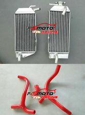 aluminum radiator /& red hose HONDA CRF450R CRF 450 R CRF450 2009 2010 2011 2012
