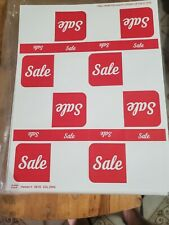 New Listingred Sale Label Retail Store Price Stickers Tags Labels 50 Sheets