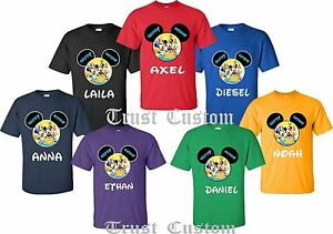 Image Is Loading HAPPY BIRTHDAY DISNEY FAMILY T SHIRTS Add Your