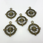10//30cs Ancient bronze Compass Charms Pendant 24x29mm DIY Jewelry Making