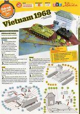 Diorama Vietnam 1968 Tank M113ACAV + PT - 76 Czech rare Paper Model 1 : 87