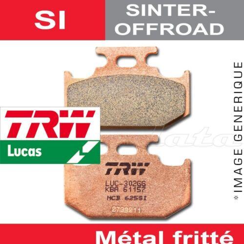 Plaquettes de frein Arrière TRW Lucas MCB 625 SI pour Suzuki TS 125 R 90-96