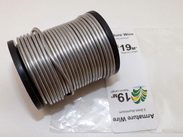 2mm Aluminium Craft, Modelling, Armature Wire, PICK LENGTH, FREE 1st CLASS POST!