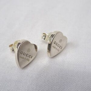 Details about Gucci Earrings One Ear Heart Silver Limited Edition Series  Collection Special 30