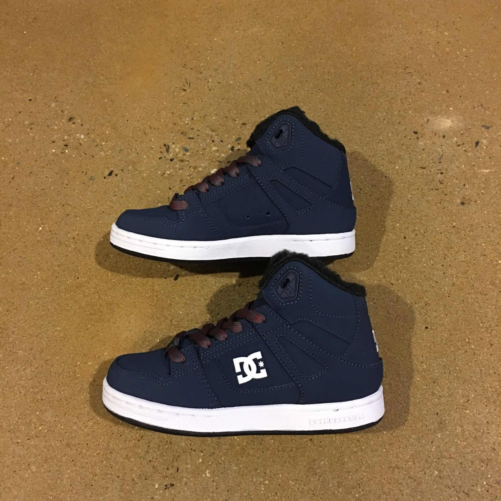 DC Rebound WNT Kids Size 13.5 US Youth Navy Grey BMX Skate Shoes Sneakers