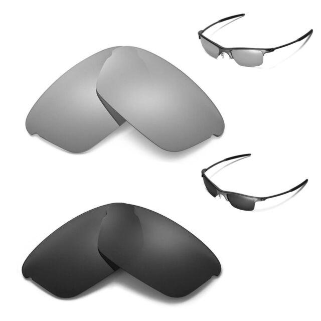 e53519ac45 New Walleva Polarized Black + Titanium Replacement Lenses For Oakley  Razrwire