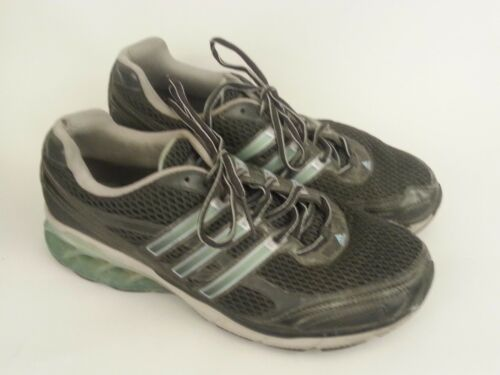 Adidas Boost Womens Running Shoes sz 9 M Gray Light Blue White Sneakers Preowned