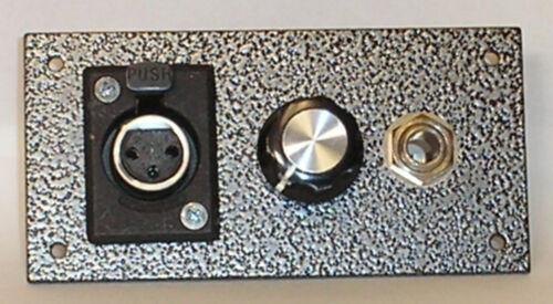 T1 MICROPHONE HEADPHONE TALENT PANEL RADIO STUDIO BROADCAST XLR MIC POT HP JACK
