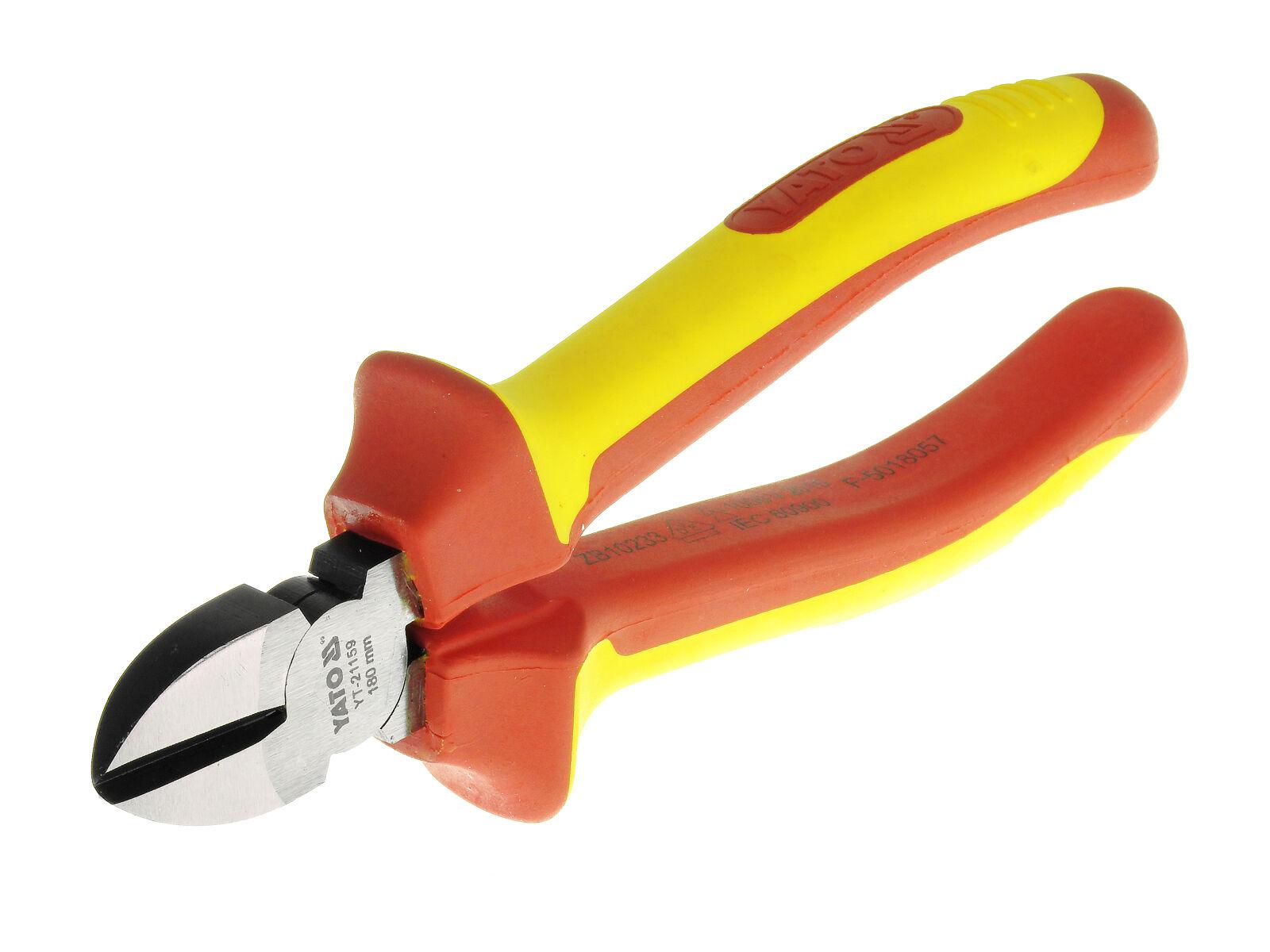 Elektriker Seitenschneider Drahtschneider 180mm Dicke Isolierung IEC Norm 1000 V