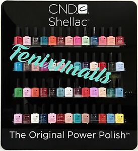 CND-SHELLAC-WALL-DISPLAY-RACK-Color-Chart-Holds-52-UV-Gel-Polish-Bottles-NIB
