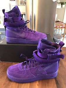 the latest ebbdb 6be62 Details about Nike 864024 500 SF AF1 Air Force 1 One High Boot Court Purple  Size 10.5 - NIB!!!