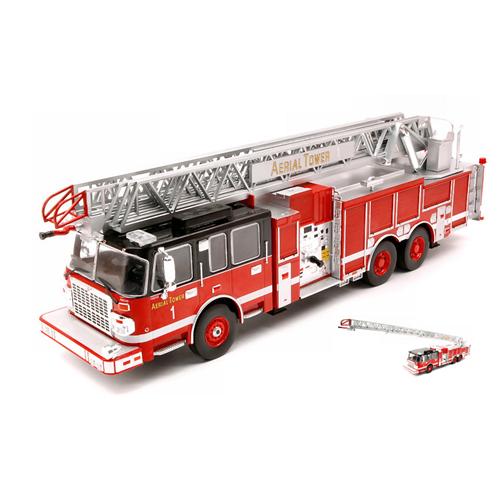 SMEAL 105 AERIAL LADDER 2015 RED-WHITE 1:43 Ixo Model Pompieri Die Cast