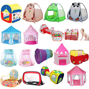 Various-Play-Tent-Kids-Toddlers-Tunnel-Pop-Up-Cubby-Playhouse-Indoor-Outdoor-Set