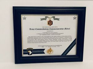 Military-Commemorative-ARMY-COMMENDATION-COMMEMORATIVE-MEDAL-CERTIFICATE