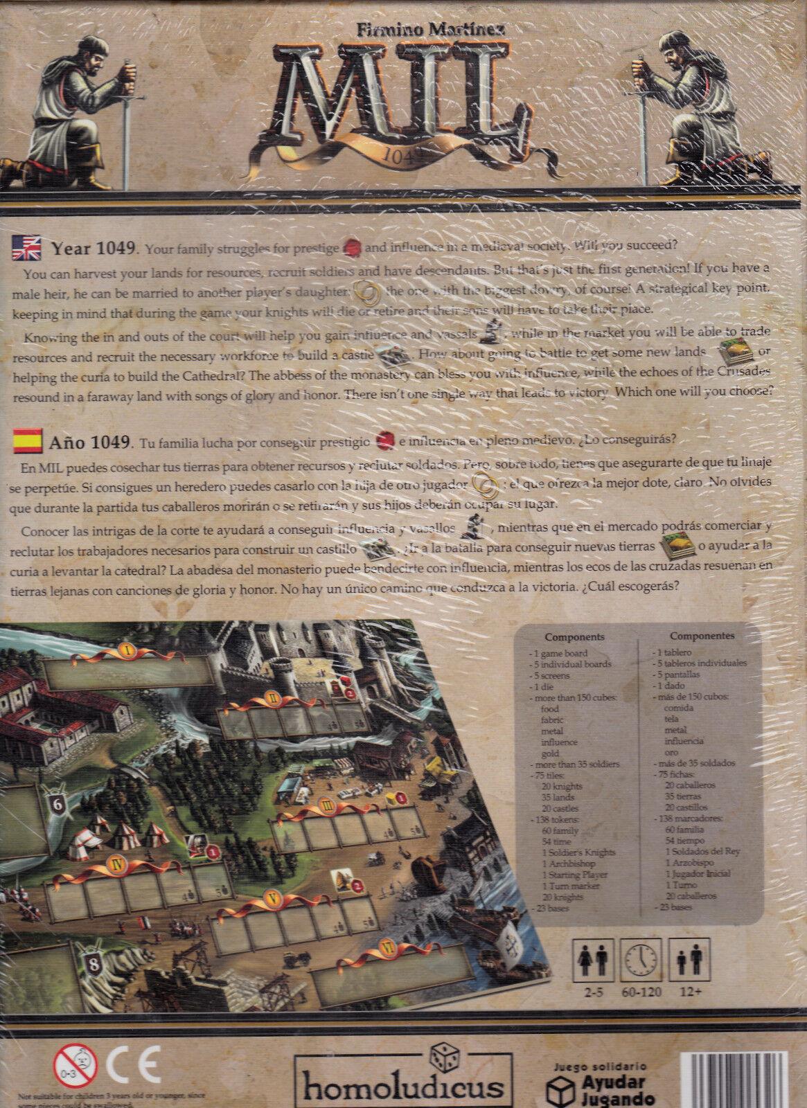Mil 1049 - Homoludicus Games - Board Board Board Game New   NIB  37d049