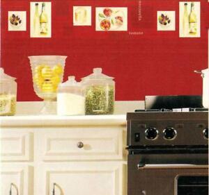 Details about Kitchen Wallpaper border Italian Modern Kitchen Wall Art Wall  Decor Solid Vinyl