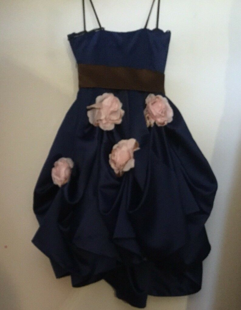 VTG BETSEY JOHNSON EVENING PARTY GIRL Pink pinkttes COBALT blueE RUCHED GOWN