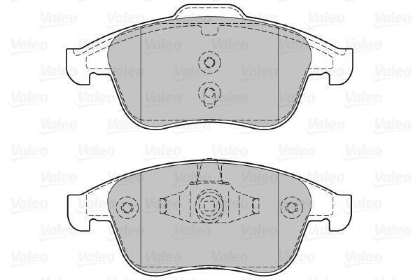 VALEO 601066 Kit de plaquettes de frein, frein à disque