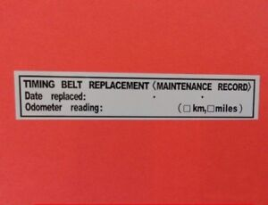 3 timing belt replacement sticker decal 3 5 x 0 63 erma755305 rh ebay com Toyota Timing Belt Replacement Intervals Toyota Timing Belt or Chain